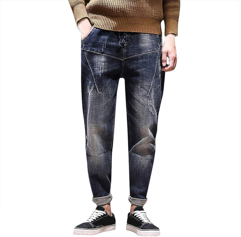 MCYs Jeans Hombre Slim Fit, Hombres Otoño e Invierno Ocio ...
