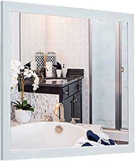 WYXIAN Mirror Bathroom Wall-Mounted Makeup Dressing Simple Framed Rectangle 3 Colors (Color : C, Size : 60X80CM)