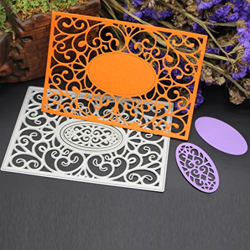 Fabal Frame Metal Cutting Dies DIY Album Scrapbook Card Bookmark Decor Tools Cutting Dies for Scrapbooking (C)
