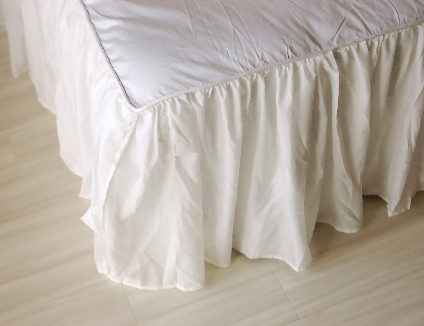 起こるタフペイントレイヤードベッドスカート アウトレット ベッドシーツ スカート かわいい シフォン (ワイドダブル)