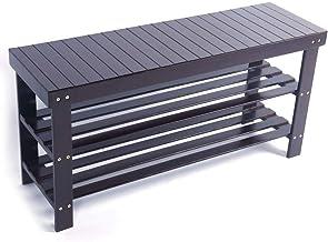 Shelf 3 Tier Bamboo Shoe Rack Bench Storage Shelf Organizer Entryway Home Furniture US