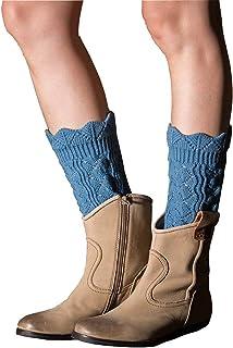 Tukistore, Tukistore Encajes Hueco Cortas Calentador de piernas Mujer Invierno Calcetines de la Rodilla de Ganchillo Calentadores Medias de piernas Calentadores De Punto