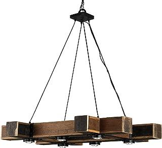 Currey and Company 9429 Dockyard - Six Light Chandelier, Blacksmith/Natural Finish