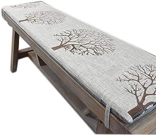 Yzzlh - Cojín de banco antideslizante con corbata, columpio de 2 ó 3 plazas, almohadilla de repuesto para asiento de viaje en interiores y exteriores, 3 cm de grosor, lavable (A,40 x 40 cm)
