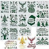 16 Blätter Schablonen Weihnachten (17.8 * 26cm) Groß Weihnachtsmotive Zeichenschablonen...