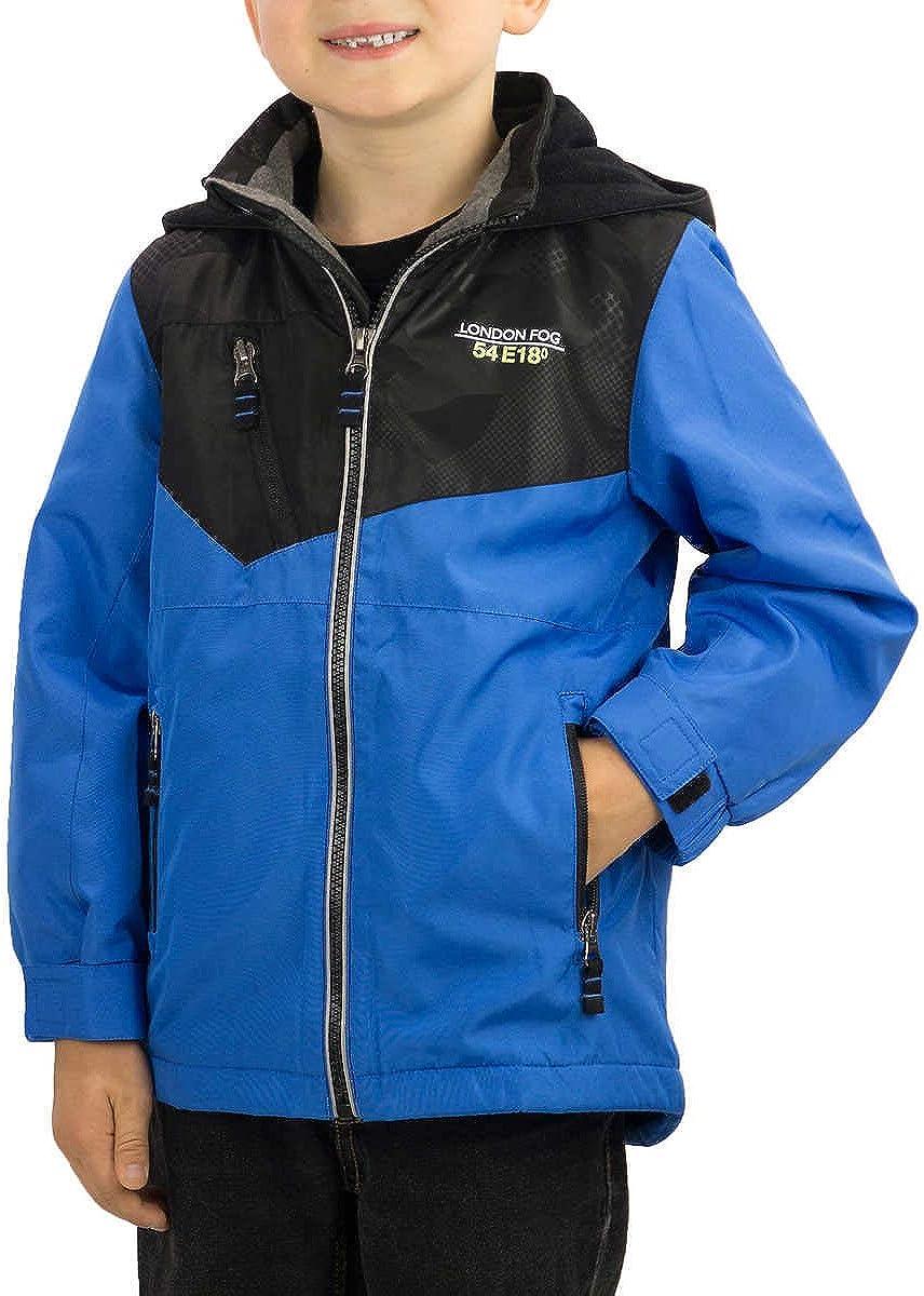 LONDON FOG Kids Boy's Fleece Lined Hooded Jacket