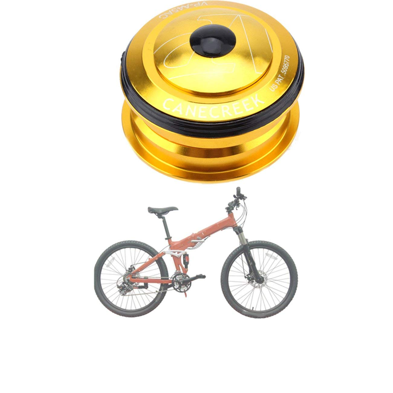 Fannty Juego de cojinetes de Bicicleta de montaña 44Mm Palin ...