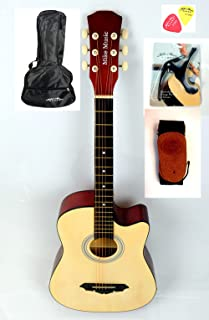 38 inch Mike Music Acoustic Guitar with Bag Strap Capo Picks (natural)