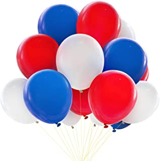 Novelty Place Patriotic Decoration Balloons - 100Pcs Red & White & Blue Thicken Latex - Best Selection for 4th of July Events National Day Birthday Party Favors Celebration Gala Décor Supplies