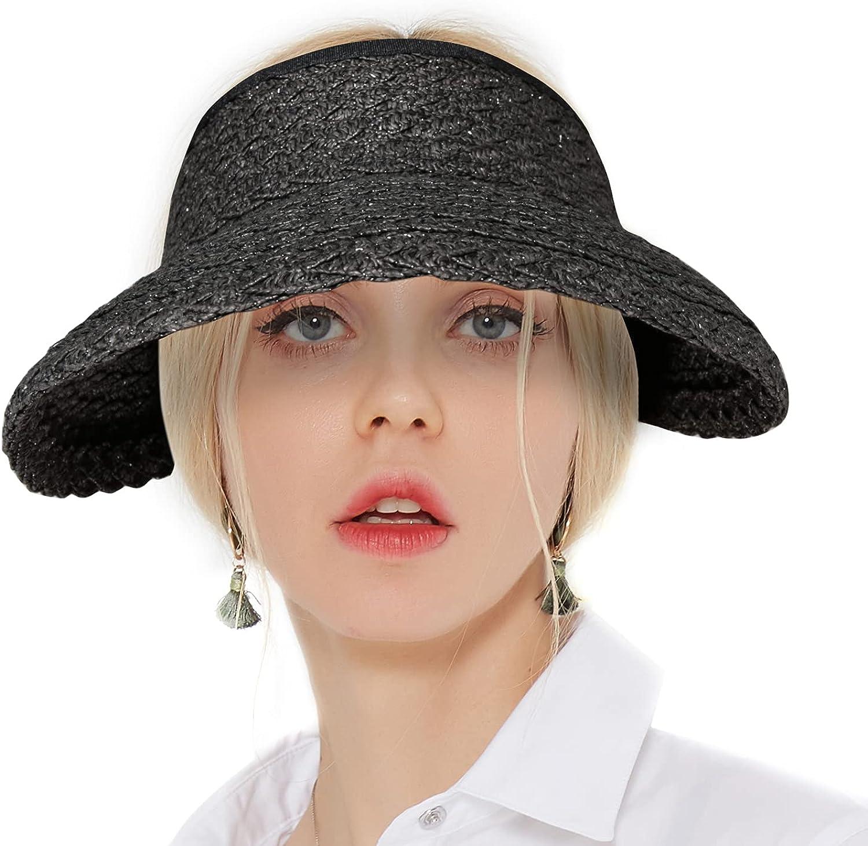 Sun Visors for Women Straw Hats