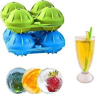 Auchiku Bacs à glaçons en silicone boule pour Cocktails, Cola, Whisky, Jus de fruit ,geler les aliments de bébés, queue(ve...