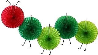 5-Fan Set of Caterpillar Themed 13 Inch Party Fans