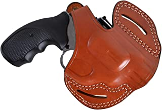 Pusat Holster Revolver Colt Detective Snubnose 38 Special Leather OWB 2 Barrel-inch Holster Handcrafted Black-Brown
