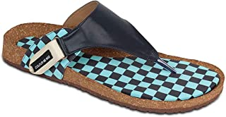 Colour Me Mad Black Checks Subtle On Top and Printed On Bottom to Match Your Mood, Natural Cork, Washable, All Weather, Vegan, Made in India, PETA Certified, Men Sandals