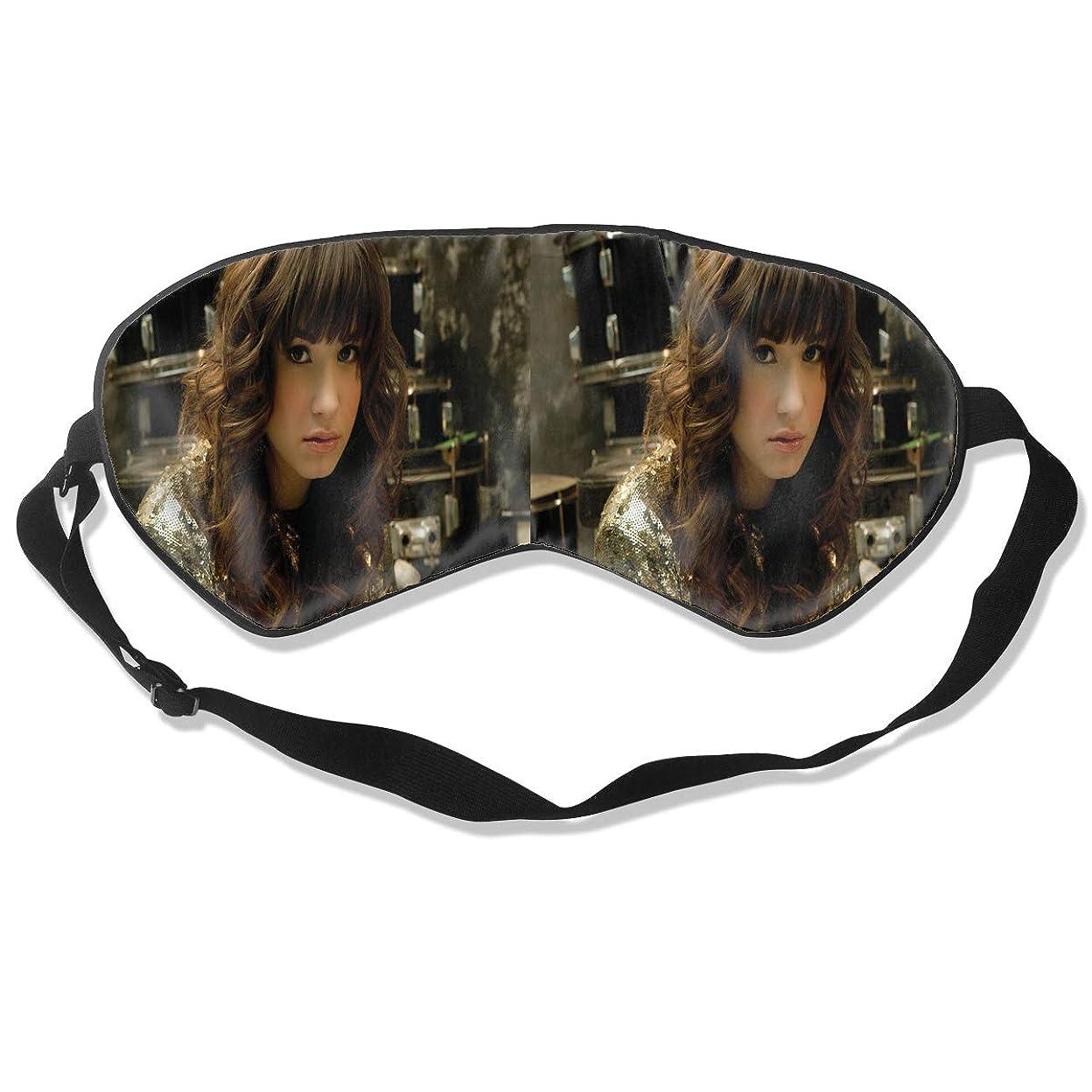 地理警察電圧アイマスク Demi Lovato 睡眠対策、いびき軽減、眠りと目の疲れ、スーパーソフト、超滑らかな絹のような通気性
