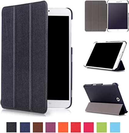 Asng Samsung Galaxy Tab S2 8.0 Case - Slim Lightweight Smart-Shell Stand Cover Case with Auto Wake/Sleep for Samsung Galaxy Tab S2/S2 Nook 8.0 inch Tablet (SM-T710/T715/T713/T719) (Black)