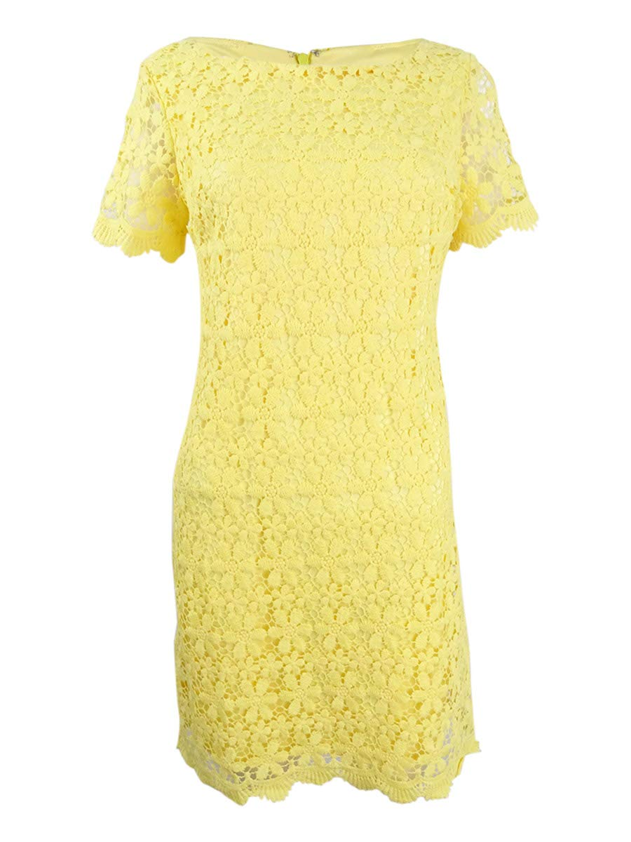 Available at Amazon: Jessica Howard Women's Floral Lace Scalloped Short Sleeve Mini Dress