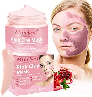Mascarilla de Arcilla Rosa Mascarilla Exfoliante Facial Mascarilla facial de hidratante Pink Clay Mask Mascarilla Puri...