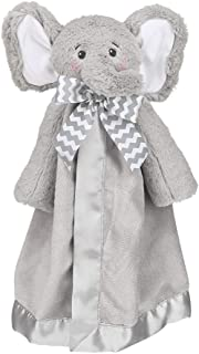 Bearington Baby Lil' Spout Snuggler, Gray Elephant Security Blanket, 15 inches