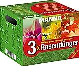 Manna 3x Rasendünger - 3 x 3 kg für das gesamte...