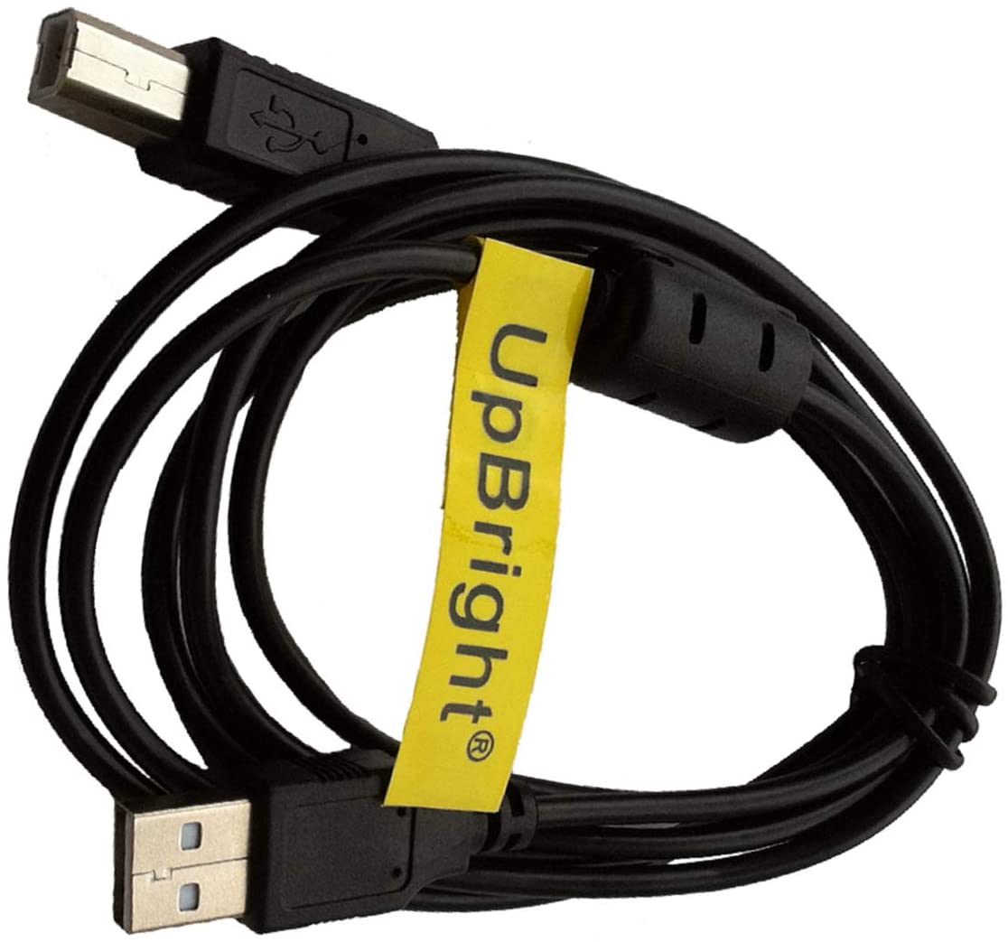 UpBright New USB Cable Laptop Notebook PC Data Sync Cord Replacement for Panini My Vision X Check Scanner, Visioneer Patriot 9650 P96501D-WU Sheetfed Scanner FU62AD OneTouch 7600 Flatbed Scanner
