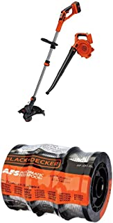 BLACK+DECKER LCC140 40V MAX Lithium Ion String Trimmer and Sweeper Combo Kit WITH BLACK+DECKER AF-100-3ZP 30ft 0.065