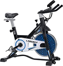 LABGREY Indoor Cycling Bike Stationary, Silent Belt Drive Exercise Spin Bikes For Home Cardio & Resistance Training Workou...