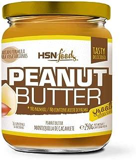 HSN Foods - Mantequilla de Cacahuete con Textura Suave y Cremosa - 100% Natural - Peanut Butter Smooth - Apto Vegetariano - Sin grasa de palma - Sin grasa trans - Sin azúcar ni sal añadidos - 250g