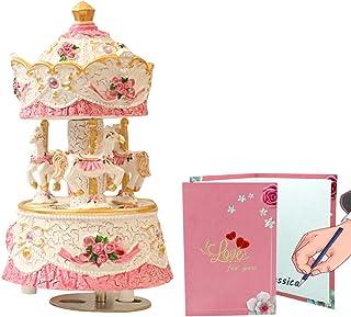 LOVE FOR YOU Carousel Horse Music Box Mechanism Musical Unicorn for Women Kids Baby Girls mom Daughter Granddaughter Child...