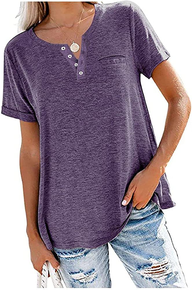 MAKARTHY Women's Fixed price for sale Long Puff Sleeve Tunic Boat T-Shirts Neck Max 58% OFF Top