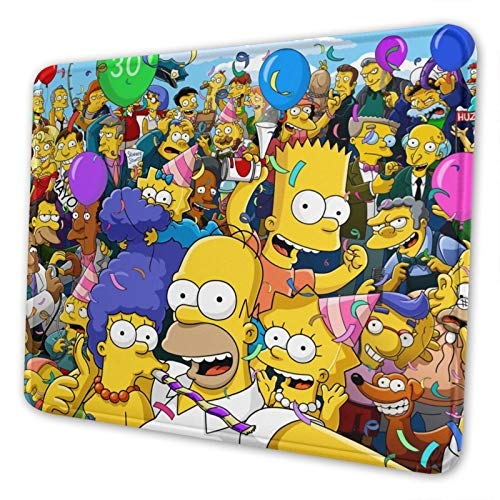 Anime The Sim-pso-ns Mouse Pad Funny Non-Slip Game Mouse Mat Extended Protecting The Desktop Mousepads for Laptop and Computer 10 X 12 Inch
