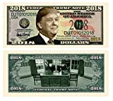 Donald Trump 2018 Federal Trump Presidential Dollar Bill Limited Edition In Top Quality Currency Holder - Best Gift For Trump Fans. SPECIAL 2018 FEDERAL TRUMP NOTE Dollar Bill featuring 45th President Donald J Trump SAME LOOK, FEEL AND SIZE as real U...