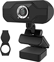 1080P Webcam with Microphone, High-Definition Desktop or Laptop Webcam, USB Camera with Built-in Microphone [Plug and Play...