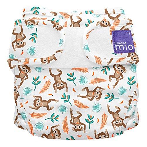 Bambino Mio, mioduo cobertor de pañal reutilizable, mono araña, talla 1 (<9 kg)