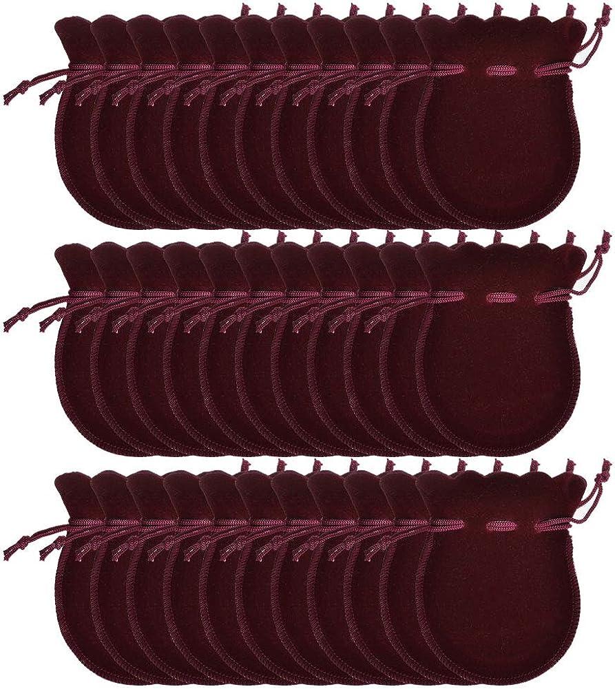 100 Pi/èces Sacs /à Bijoux en Velours Sacs en Velours Sacs en Velours en Forme de Gourde 7x9cm Sacs-cadeaux Pour Bijoux et Emballage Cadeau