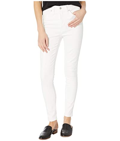 Madewell 10 High-Rise Skinny in White Clean (Pure White) Women