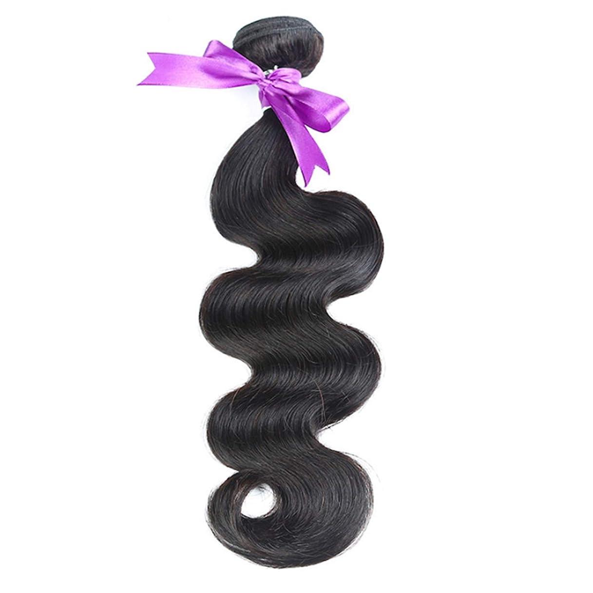 ペルーの髪織り実体波髪バンドル100%人間の髪織りナチュラルカラー非レミー髪8-30インチ1ピース (Stretched Length : 8inches)