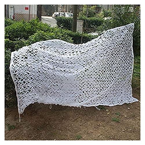 2x5m 3x4m Ghillie Camo Netting Net Blanc Léger Durable for l'Armée de tir Camping Chasse Militaire Cacher Woodlands Nets Taille Sunscreen: 10 * 10M (32 * 32FT) (Size : 5 * 8m(16.5 * 26ft))