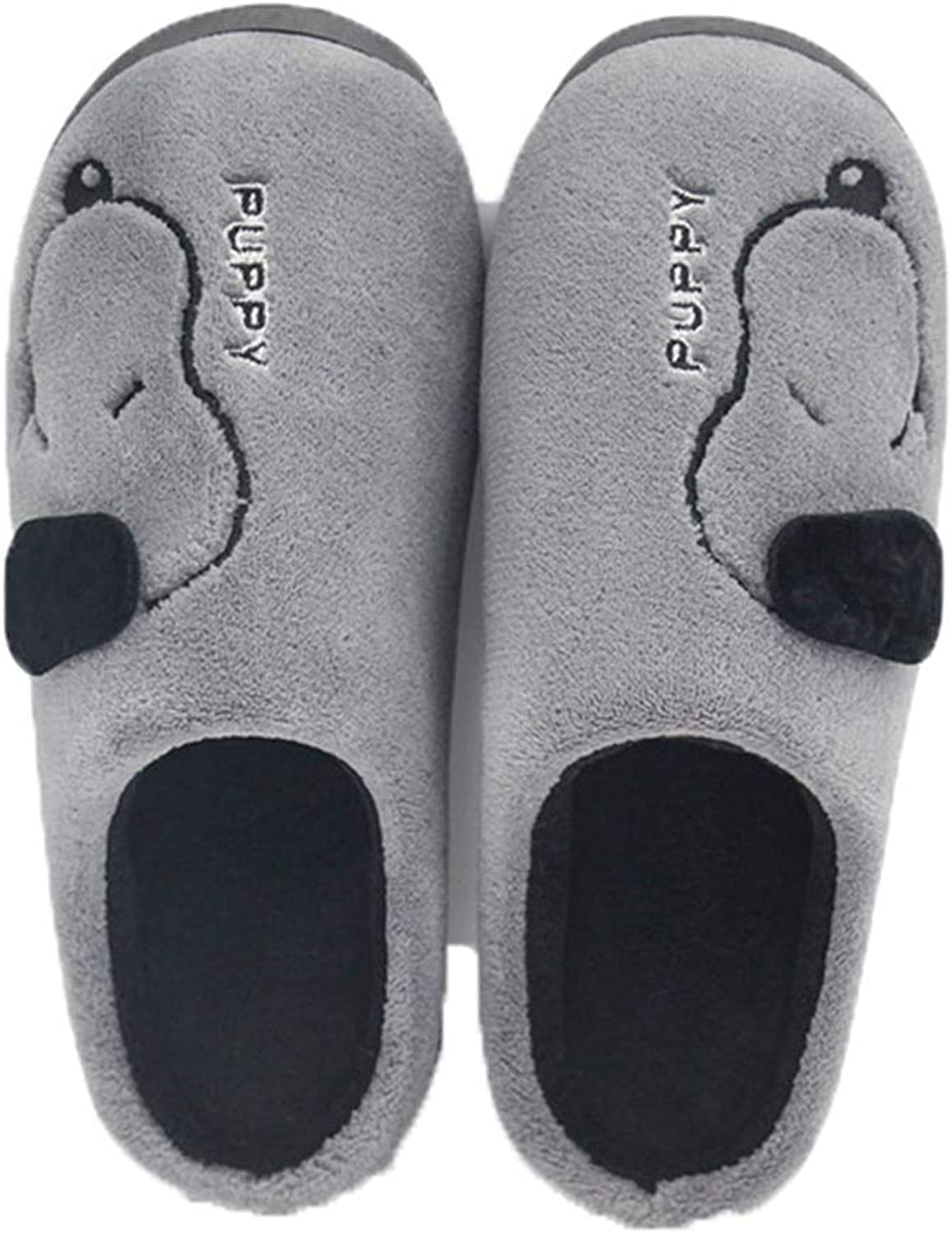 ASO-SLING Women's Cute Puppy Plush Slippers Cozy Warm Memory Foam House Slipper Fuzzy Fleece Indoor Non Slip Home shoes