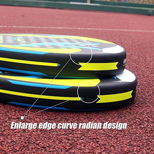GRANDCOW Tenis Padel – Pro de Fibra de Carbono de alimentación ...