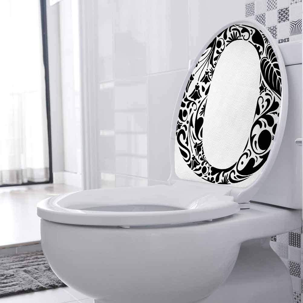 Bathroom Decal Classic Leaves Flora shipfree Toilet Cover Seat High order D