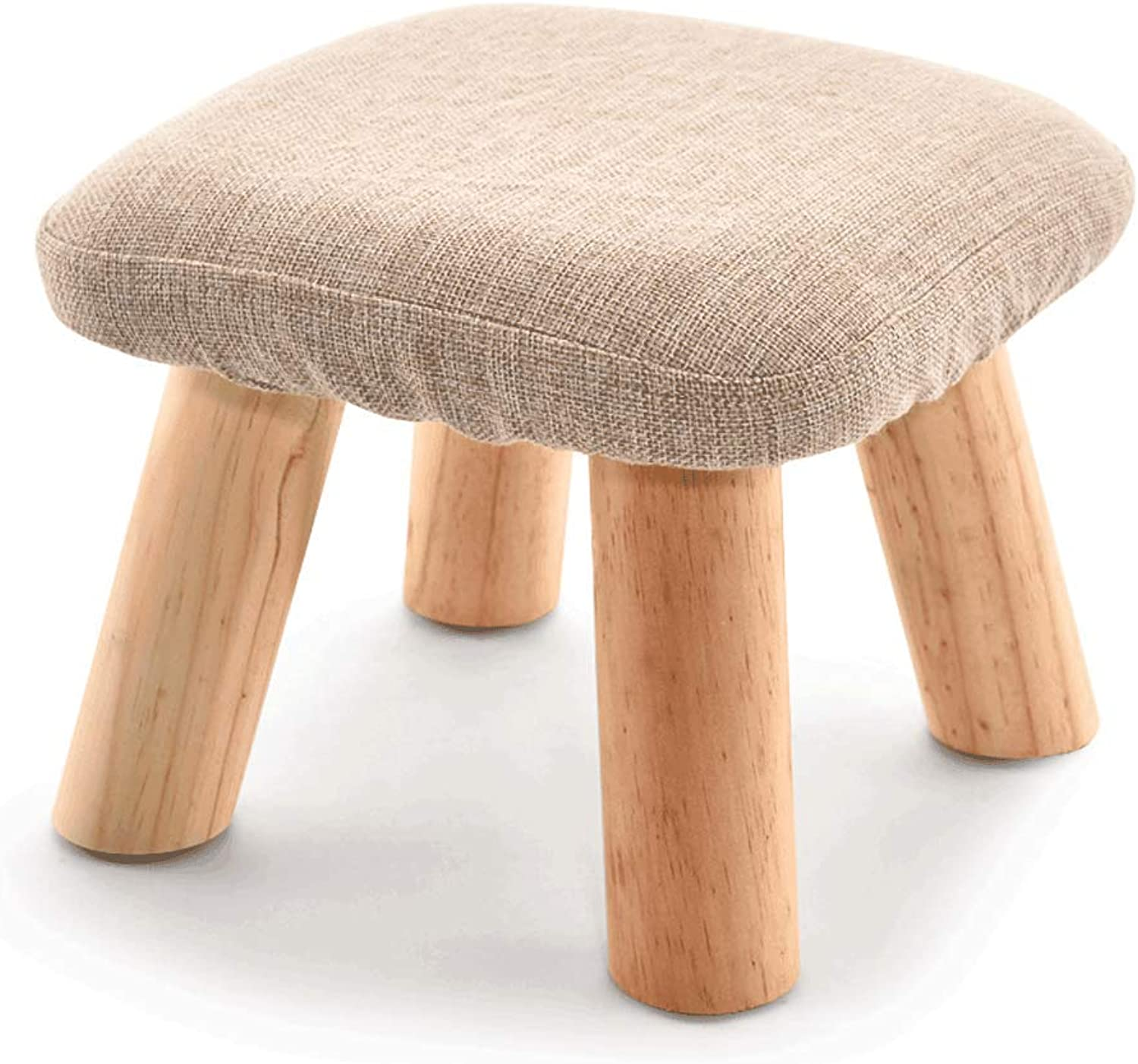 LXYFMS Small Stool Wood Sofa Bench Fabric Small Bench Wooden bench (color   B, Size   21  28CM)