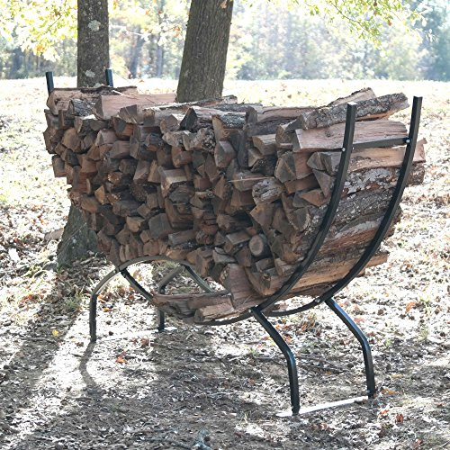 Best Buy! Titan 8' Crescent Firewood Rack Wood Storage