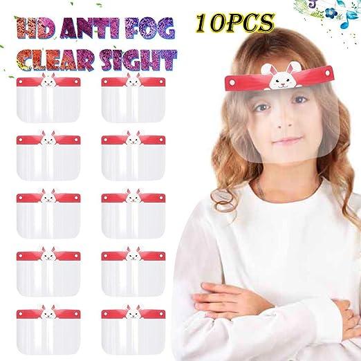 10PCS Outdoor Bandanas Children Bandanas Kids Boy Girl Cartoon Face Shields Bandanas with Band A