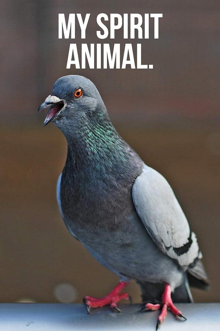 誘惑するいま検出My Spirit Animal: Happy Pigeon Journal
