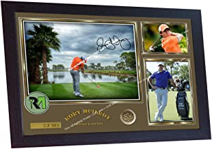 S&E DESING Rory McIlroy Signed Autograph Photo Print Legend Golf Poster Framed 13 in x 10in