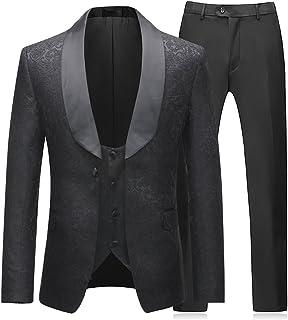Boyland Mens 3 Pieces Tuxedos Vintage Groomsmen Wedding Suit Complete  Outfits(Jackets+Vest+ be33364c2