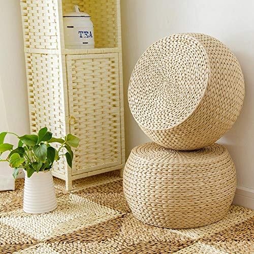 Diuspeed Handmade, Round, Woven Straw Chair Cushion, Tatami, Seat Cushion, Yoga Mat, Knitted Floor Mat, Garden, Dining Room, Home, Outdoor Decor