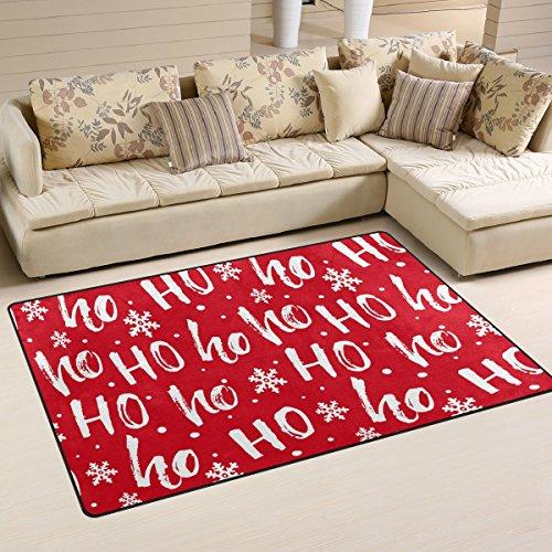 ingbags Super Weich Moderner HoHoHo Santa Weihnachten Teppiche Wohnzimmer Teppich Schlafzimmer Teppich für Kinder Play massiv Home Decorator Boden Teppich und Teppiche 78,7x 50,8cm