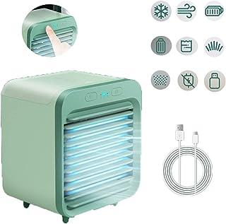 ZHSHYPG El humidificador de Aire Acondicionado con Ventilador portátil Tres apaga automáticamente la Oficina en el hogar, Adecuada para la Mesa y el Escritorio de la Oficina en el hogar (Azul)